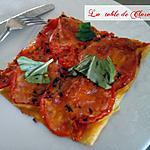 recette Tarte fine tomates mozarella