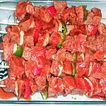 recette Brochettes de boeuf mexicaines