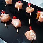recette Sucettes de saumon au fromage ail et fines herbes