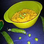 recette Purée petit pois{frais}-carotte-jambon