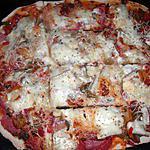 recette Pizza jambon/chorizo raclette