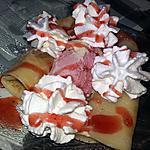recette Crêpe gourmande a la fraise
