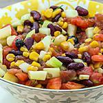 recette Salade de tomates, concombre, haricots rouges et maïs