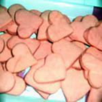 mes sablé pour la saint valentin en forme de cœur rose