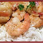 recette Crevettes au Curry et coco