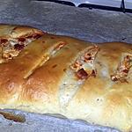 recette Fougasse moelleuse a la crème, au thon et chorizo