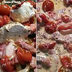 recette Sauce tomate chèvre aux lardons fumés