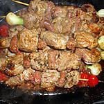 recette Brochettes d agneau et merguez