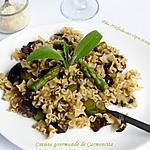 recette Pâte Mafalda aux cèpes et asperges vertes