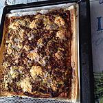 recette Tarte courgettes, steak haché , bleu d'auvergne