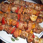 recette Brochettes de porc et chistorra