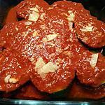 recette 'Tronçons' de courgette farcis, sauce napolitaine