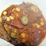 veau aux olives et pois chiches