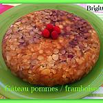 recette GÂTEAU AUX POMMES/FRAMBOISES au COOKEO