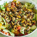recette Salade grecque aux moules et crevettes