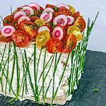 recette Sandwich cake à la truite fumée et au concombre
