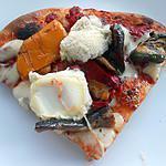 recette PIZZA LEGUMES GRILLES ET CROTTIN DE CHAVIGNOL
