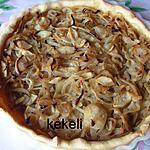 recette Tarte aux oignons et pommes fruits