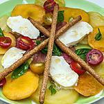 recette Salade de tomates anciennes aux nectarines