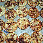 recette Mini-quiches lardons/beaufort