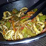 recette Ramens sautées au calamars et légumes