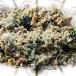 recette coquillettes bariolées aux brocolis et anchois