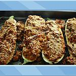 recette Courgettes du Jardin Farcies aux deux viandes