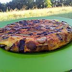recette Tortilla d'haricots plat au chorizo