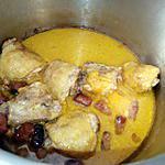 recette Hauts de cuisses de poulet au lait de coco et au merguez