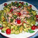 recette Salade d avocat au saumon