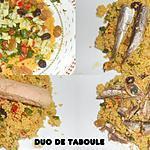 recette DUO DE TABOULE THON ET SARDINES