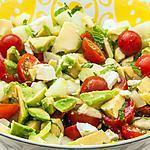 recette Salade de concombre à l'avocat et à la fêta