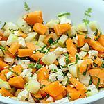 recette Salade de concombre, melon et fêta