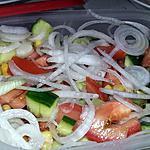 recette Salade pique nique aux oignons nouveau et crudités