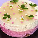 recette Gâteau mousseux aux pêches et fruits rouges