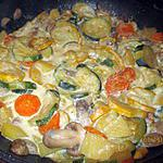 recette poêlée de légumes  au lait de coco