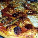 recette Pizza a la sardine et au chorizo