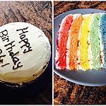 recette rainbow cake!