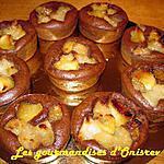 recette Pudding de brioches au chocolat et poires caramélisées