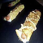 recette Crêpes d'omelette façon hot-dog