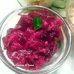 recette Salade de betterave à l'oignon rouge