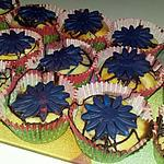 recette Muffins fleurs au brugnons