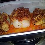 recette Pavé de cabillaud en crumble de chorizo-parmesan