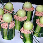 recette Concombres farcis au thon (compatible dukan)