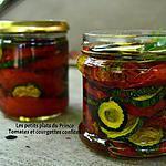 recette TOMATES ET COURGETTES CONFITES