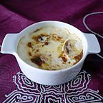 Oeufs cocotte chèvre/jambon sec