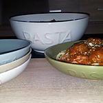 recette Capellinis sauce bolognaise au boulettes de boeuf et champignons