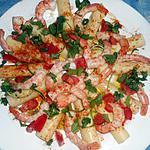 recette Coeurs de palmiers aux crevettes