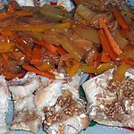 recette Pavés de colin au sésame et petits légumes (compatible dukan)