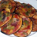 recette Minis pizzas apéritives au poivrons, champignons et au jambon